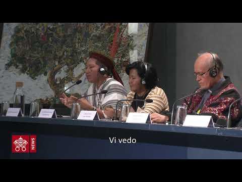 Resultado de imagem para Sínodo, nel briefing l'appello di un´ indígena: rimaniamo uniti, Gesu é il centro que ci unisce