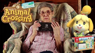 Get Screenshots for video :: 88-Year-Old Grandma Unboxing Animal Crossing New Horizons Switch