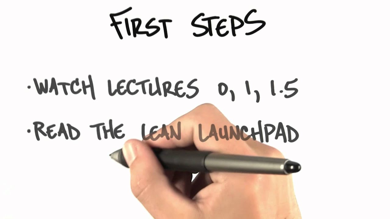 First Steps - How to Build a Startup