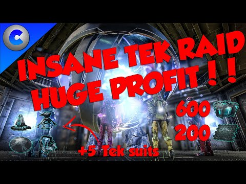 INSANE TEK BASE RAID - ARK MTS 4 MAN EP8 - HUGE PROFIT!!!