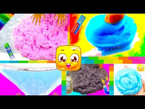 5 Easy Ways To Make Slime Without Borax! Slime Recipe with Glue! DIY Slime Videos for Kids!
