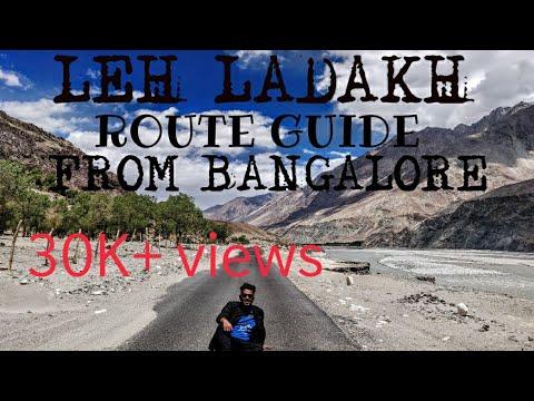 LEH LADAKH TRAVEL GUIDE |ROUTE MAP | TIMELAPSE 4K | GOPRO HERO 5