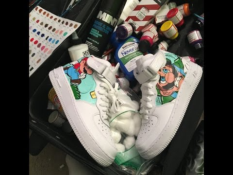 Custom Nike High Top Air Force Ones Super Mario And Luigi