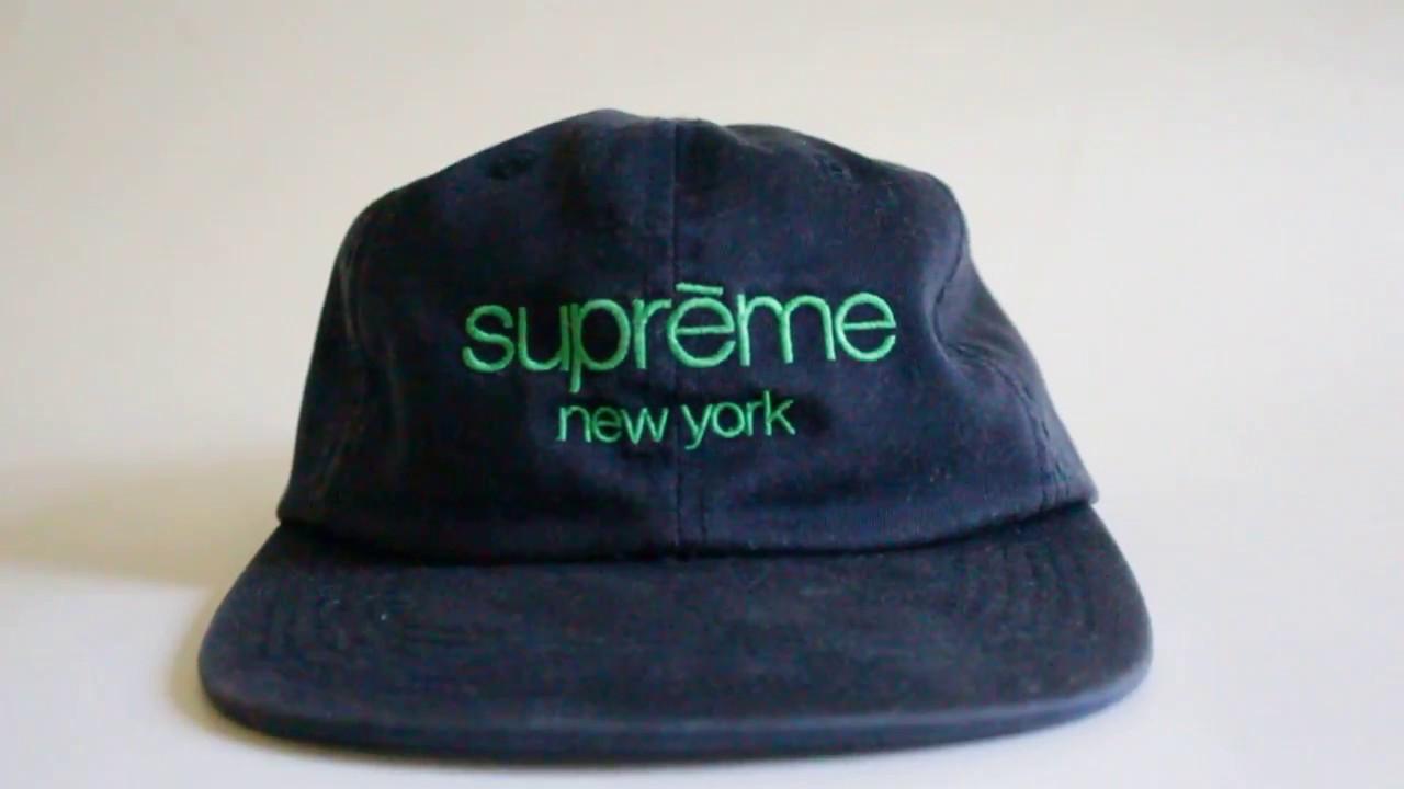 Supreme SS16 Classic Logo Twill 6 Panel Hat - YouTube 33e2c4c7d48