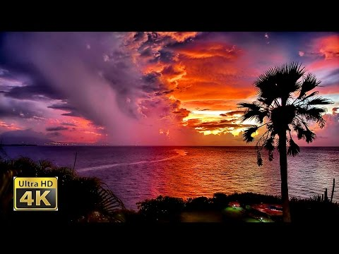 4K Video ❤ Most Beautiful Sunsets of the Caribbean - Ultra HD 2160p Film