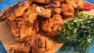 Шашлык из курицы, интересный маринад.