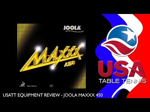 USATT Equipment Review: JOOLA Maxxx 450 Table Tennis Rubber