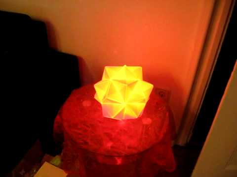 Moodlamp with Origami Lampshade