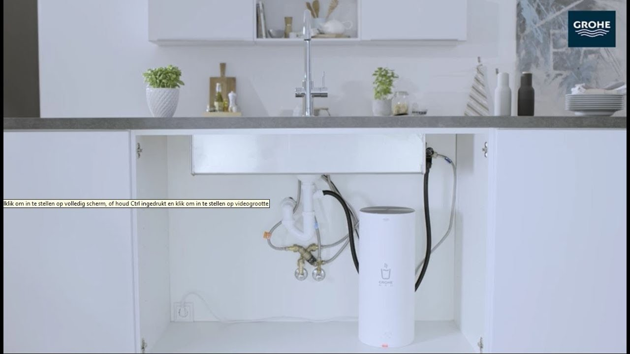 Installatievideo hoe je zelf een grohe red new kokend heet water