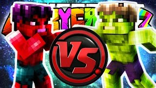 Minecraft Crazy Craft 3.0: RED HULK VS THE HULK! (Superheros Mod)! #98