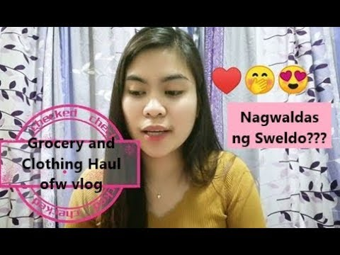 Grocery and Clothing Haul-OFW in Taiwan Vlog