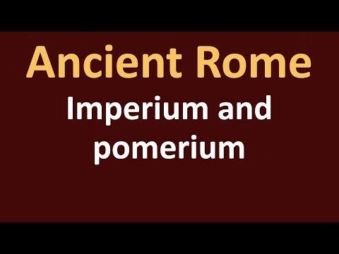 Ancient Rome History - Roman law of imperium and pomerium