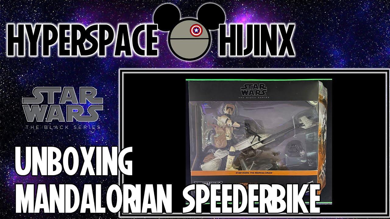 Star Wars Black Series Mandalorian Speederbike with Grogu Unboxing | Hyperspace Hijinx