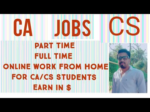 Online Accounting Jobs#Earn Income From Home# Best Part Time Job# Online Work For CA/CS Students