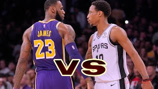 Los Angeles Lakers vs San Antonio Spurs - Regular Season - Nov, 3 - NBA 2K20