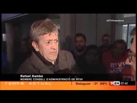 Fragment del darrer dia d'emissió de la Televisió valenciana