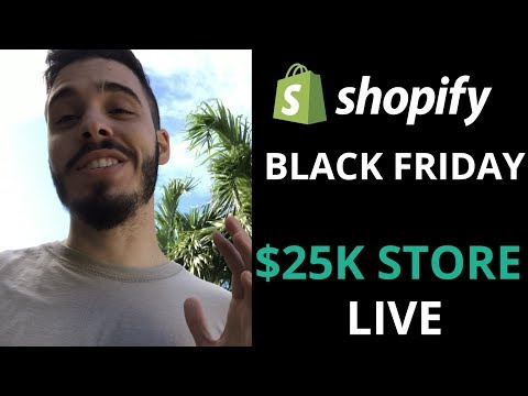 (Part 1) SHOPIFY CASE STUDY: NEW STORE TO OVER $25,000 IN BLACK FRIDAY CHALLENGE | SHOPIFY CHALLENGE