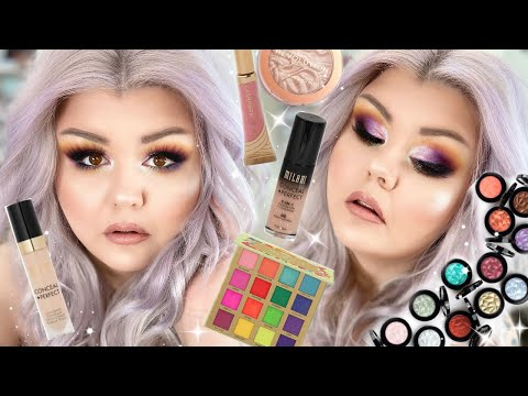 first-impressions-+-old-faves-makeup-tutorial-🔮☀️-smokey-sunset-eyes