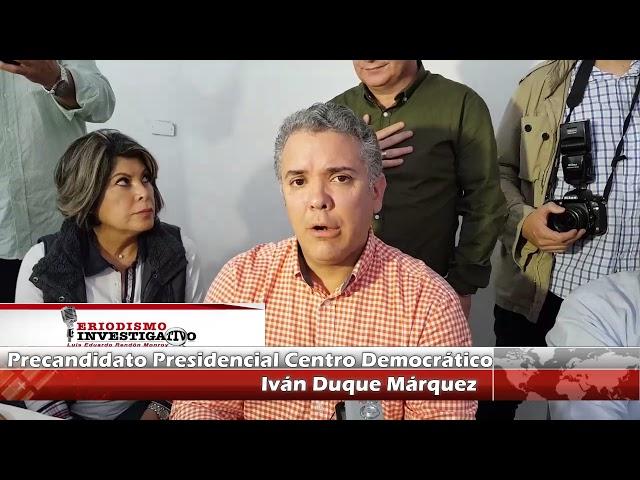 Entrevista al Precandidato Presidencial por el Centro Democrático Doctor Iván Duque Márquez