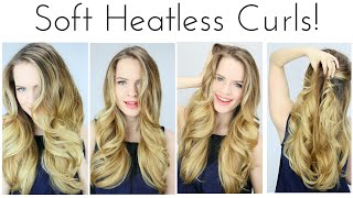 HEATLESS Soft Curls Inspired by the Grammys!! | KMHaloCurls