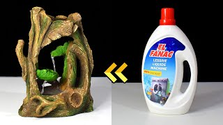 DIY Cement Tabletop Fountain using Detergent Bottle | Upcycling Plastic Bottle | Desktop Fountain