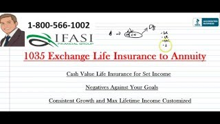 1035 Exchange Life Insurance to Annuity - What is a 1035 exchange Life Insurance to Annuity
