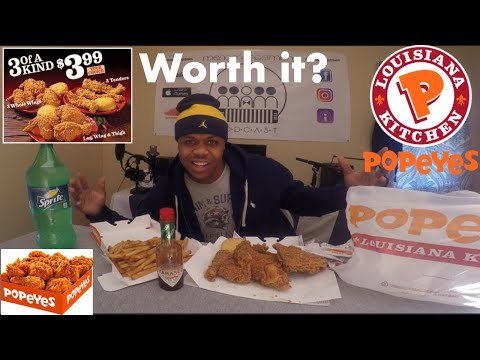 Popeyes Chicken Mukbang!!! | 3.99 special | MAM EATING SHOW
