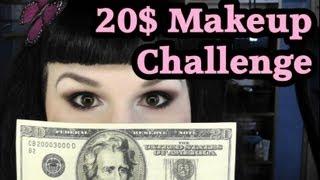 $20 Dollar Makeup Challenge! (the GOTH version)