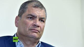 """Rafael Correa:  el bloqueo a su candidatura a la Vicepresidencia de Ecuador """"es una trampa"""""""