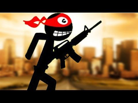 Стикмен Мультик для детей ИГРА Stickman and Gun часть 3