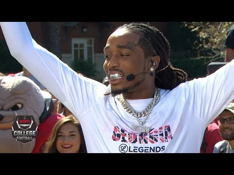 Georgia Fan Quavo Proclaims Notre Dame Is Going Down | College Football Live