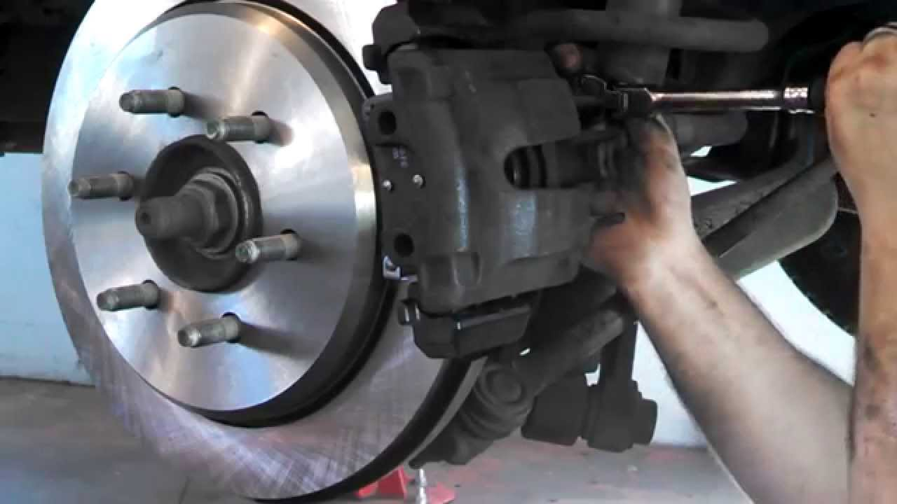 Rear Disc Brake Pad Replacement Ford Expedition  Install Remove Replace