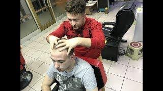 ASMR = turkish barber massage= cup massage=KUPA MASAJ'I= german customer = ALMANYADAN MÜŞTERİ =
