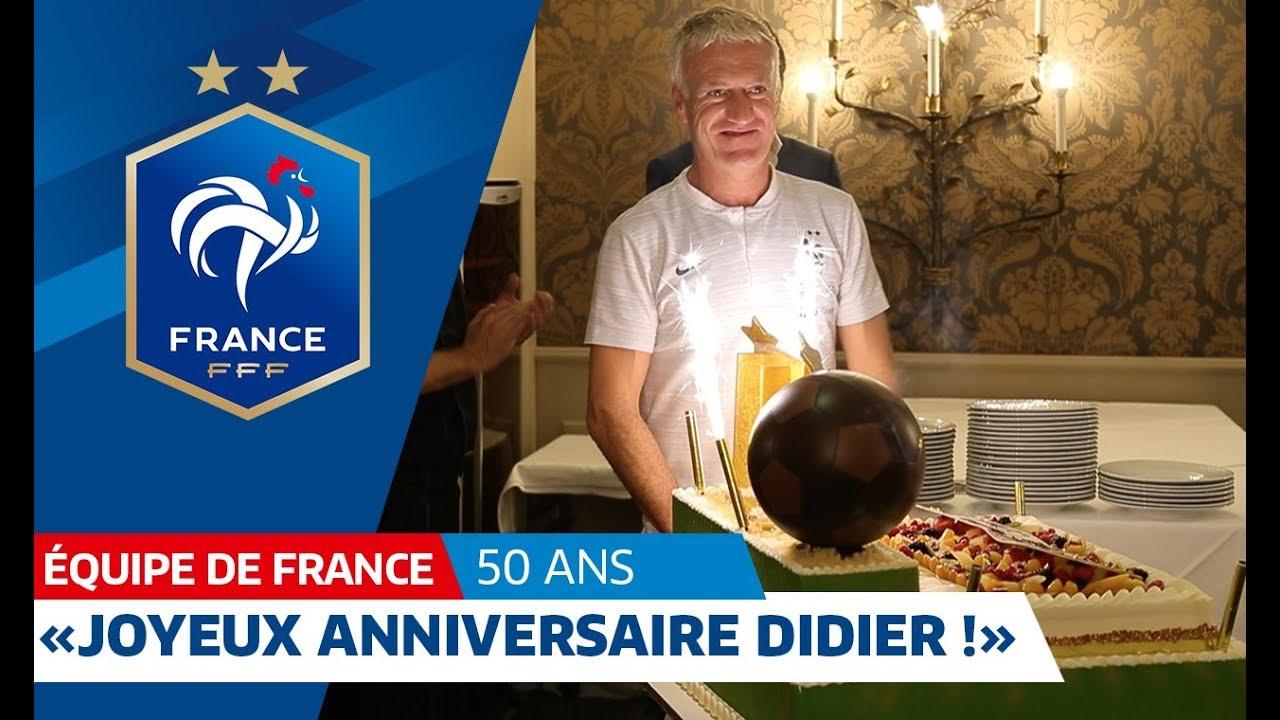 Les Bleus Fetent Les 50 Ans De Didier Deschamps Equipe De France I