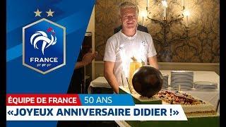 Les Bleus fêtent les 50 ans de Didier Deschamps, Equipe de France I FFF 2018