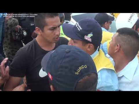 Inspectores y serenos de Surco fueron agredidos al momento de incautar un colectivo [VIDEO]