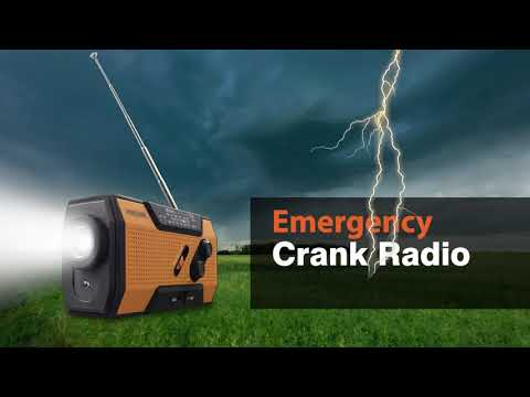 Emergency Solar Hand Crank Portable Radio, Weather Radio for Household and Outdoor Emergency