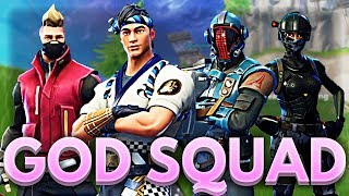 THE GOD SQUAD (not really) | Fortnite Gameplay