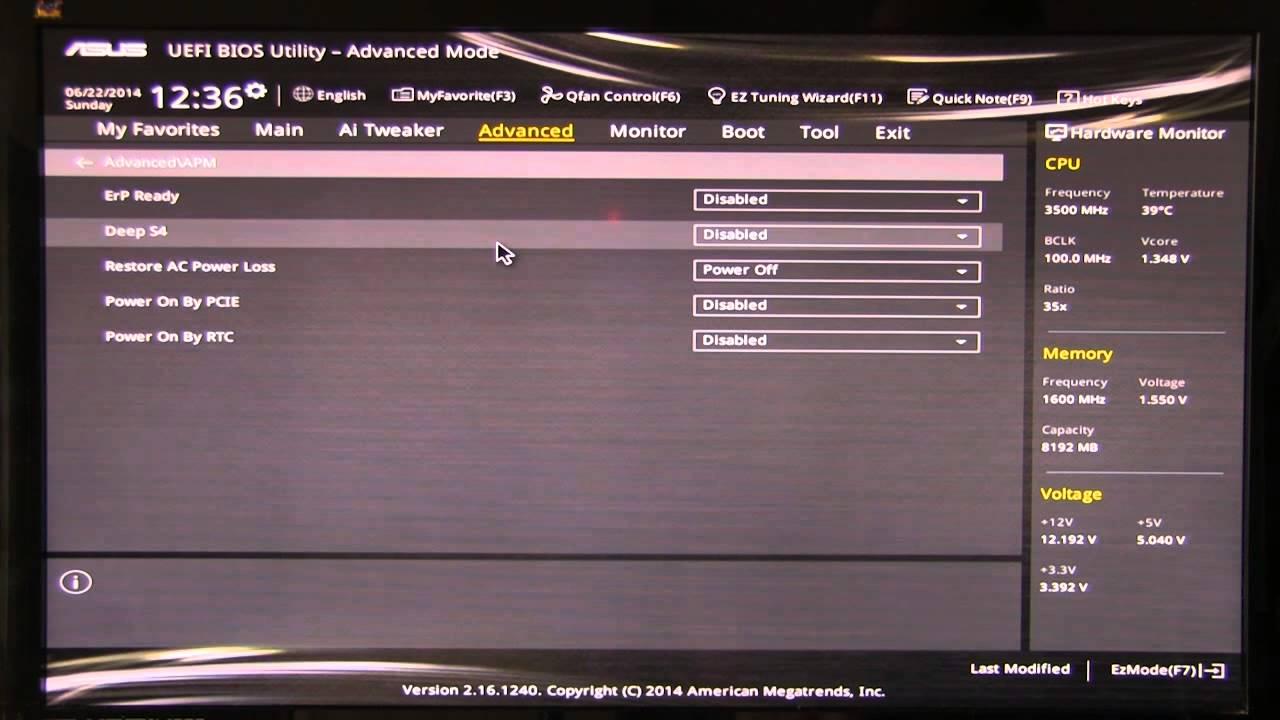 Asus Z97I Plus UEFI BIOS