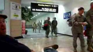 American Soldiers in Shannon Airport, Ireland