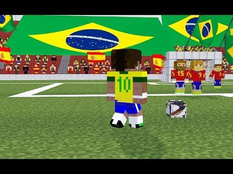 2014 FIFA World Cup Brazil  Brazil  Spain  A Minecraft Animation