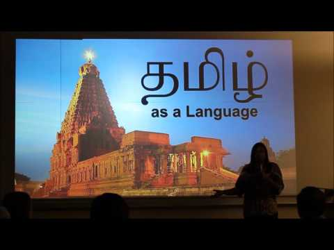 A TALK ON TAMIL CULTURE AND LANGUAGE AT THE CALIFORNIA STATE UNIVERSITY