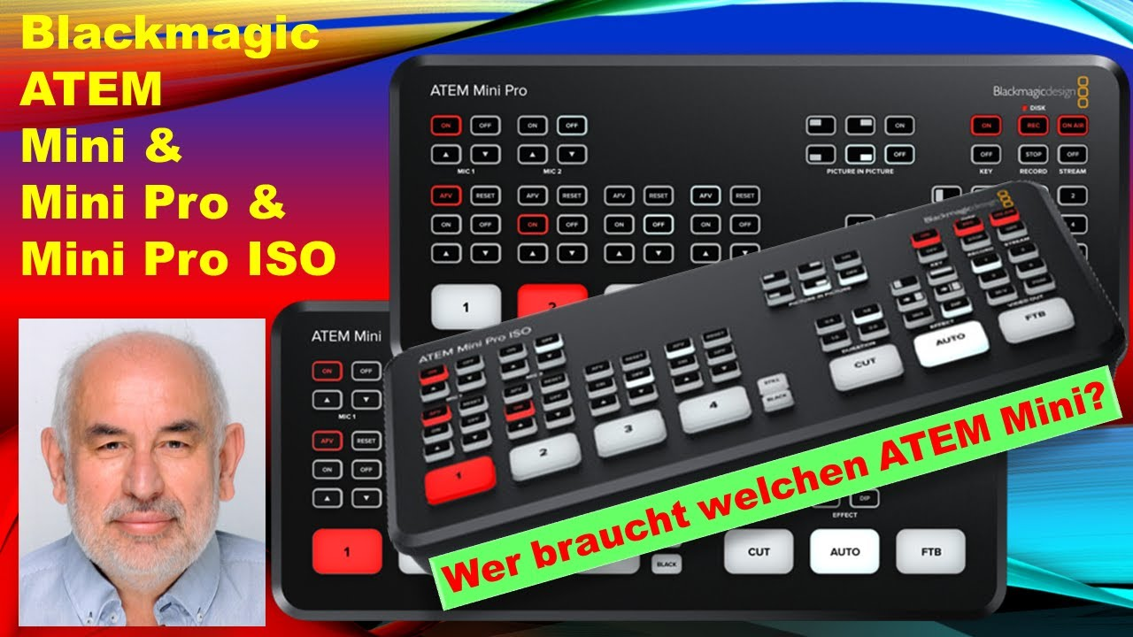 Blackmagic Design Atem Mini Mini Pro Mini Pro Iso Unterschiede Youtube