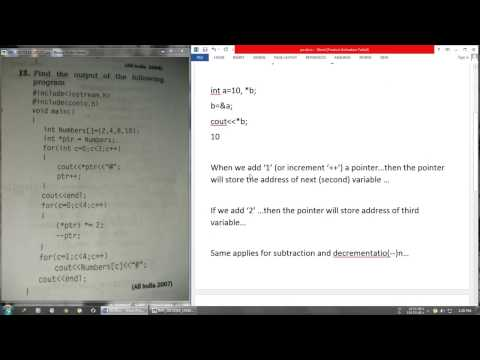 Output Problem 2    Pointers    CBSE Class 12 CBSE