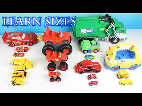 Learning Street Vehicles by Size For Kids Small Medium Large