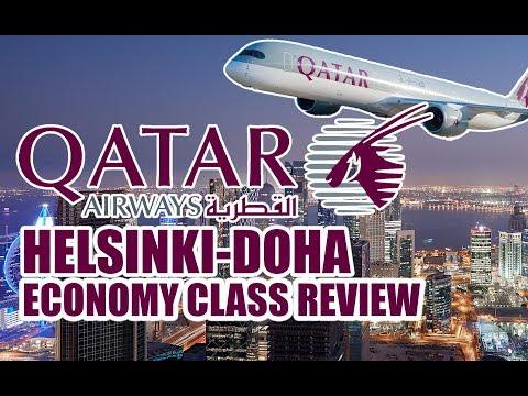 Qatar Airways HELSINKI-DOHA economy class flight review