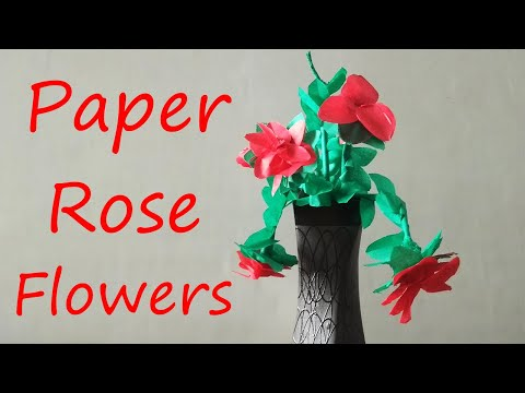 Valentine's Day Special | How to make kite paper rose flower - easy way