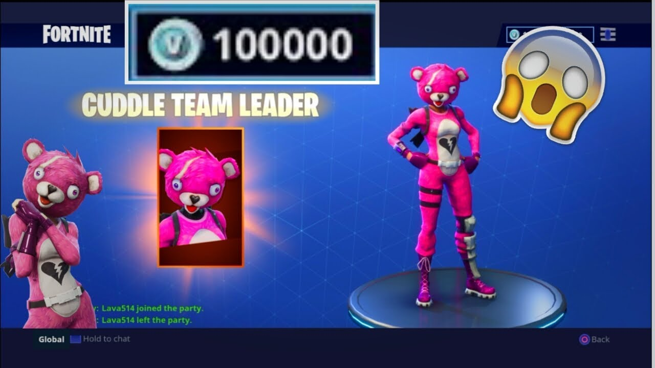 Buying Cuddle Team Leader On Fortnite! - YouTube