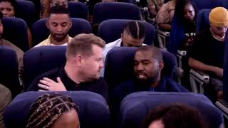 """Kanye West perform """"Jesus Walks"""" and discuss his relationship to God during """"Airpool Karaoke"""""""