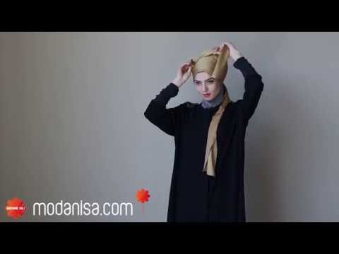 8930b5fa98277 Abiye Şal Bağlama Modeli - YouTube